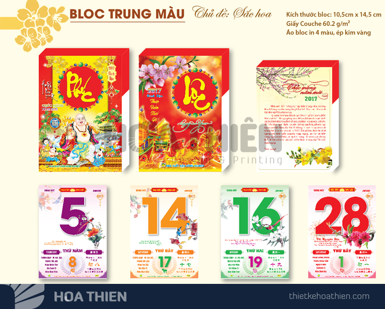 in lịch bloc 2020 giá rẻ