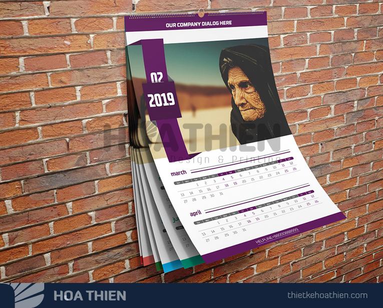 mẫu lịch treo tường 2020