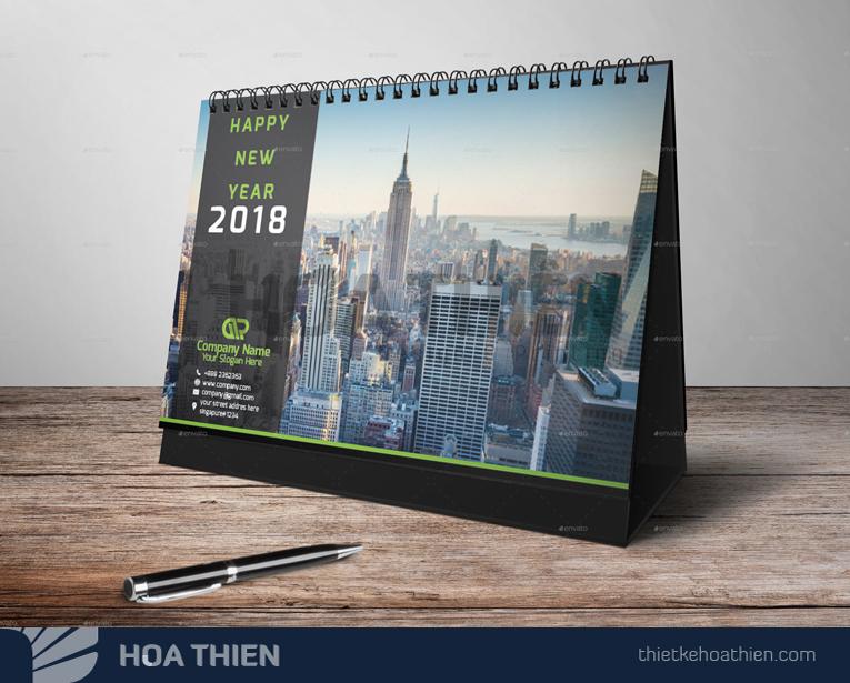 mẫu thiết kế lịch để bàn 2020