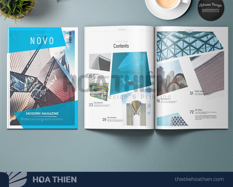 mẫu thiết kế tạp chí ấn tượng
