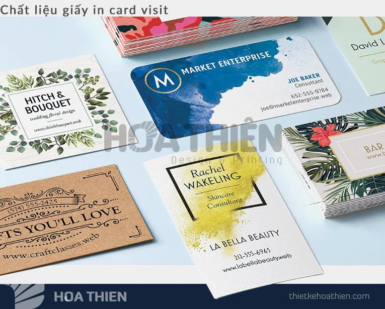 Chất liệu in card visit