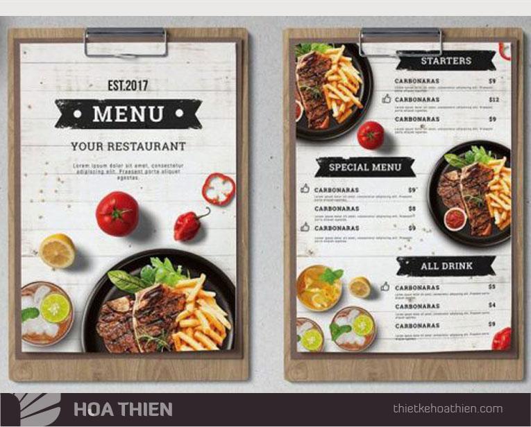 Mau thiet ke menu dep nha hang