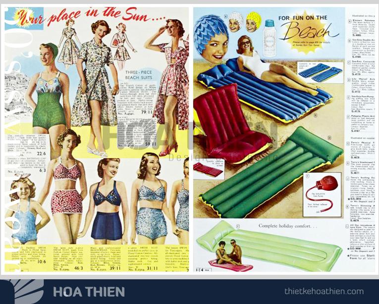 Catalogue phong cách retro, vintage