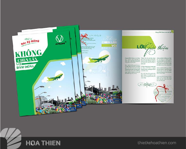 Thiet ke brochure gia re Hoa Thien