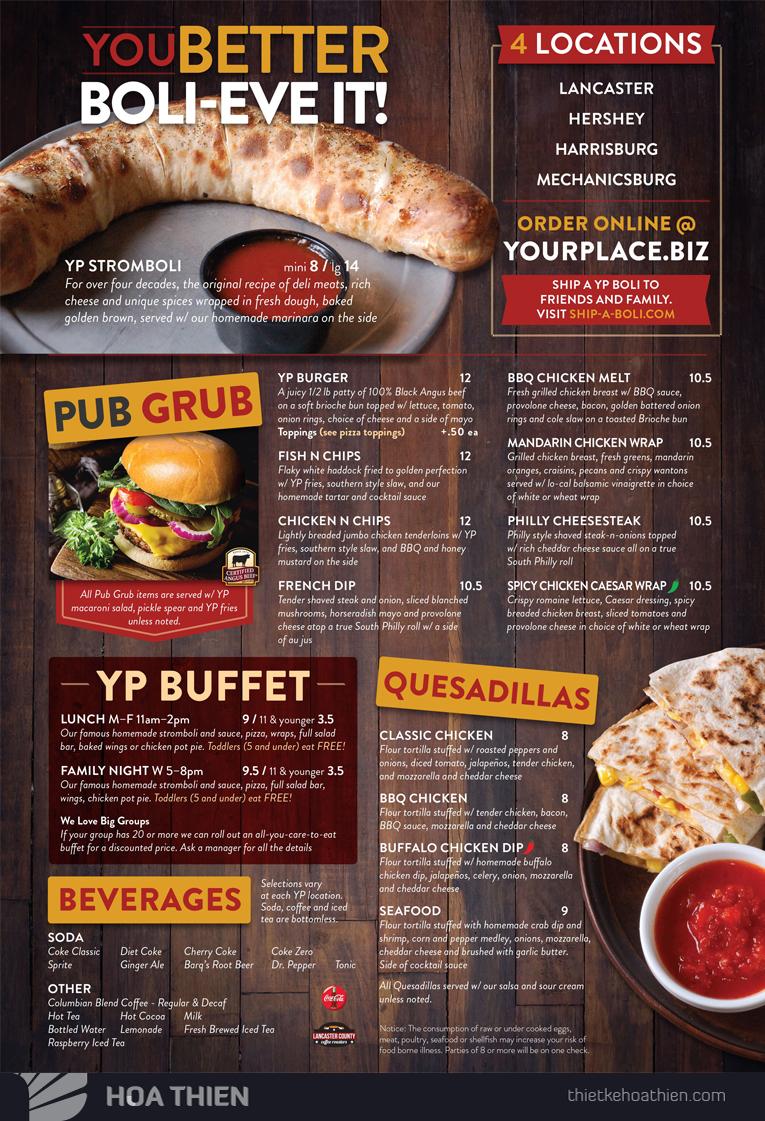 thiết kế menu nhà hàng đẹp